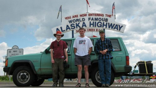 The beginning of the Alaska Highway!