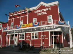 A hotel in downtown Dawson City.