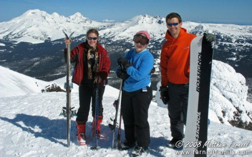Suzanne, Sarah, and Matthew L. on the summit!